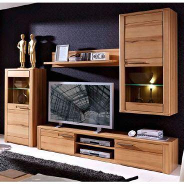 Kostenlose Lieferung Ins Deutsche Festland Innostyle TV Wohnwand Nature  Plus Anbauwand Mod. Nr. 12 05 FF 81 Komplett