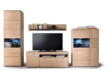 Mca Furniture Tarragona Schöne Wohnkombination In Eiche Bianco