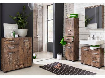 W. Schildmeyer Möbel im Set 4-teilig für Badezimmer mit Spiegelschrank