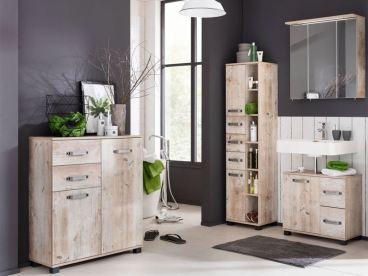 w schildmeyer m bel im set 4 teilig f r badezimmer mit spiegelschrank. Black Bedroom Furniture Sets. Home Design Ideas