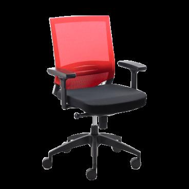 Mayer Sitzmöbel Drehstuhl myOptimax 2475.02 Bezug rotschwarz für's Büro oder Arbeitszimmer