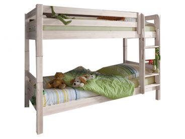 Etagenbett Massiv Weiss Kiefer 90x200 : Infantil infanskids etagenbett in kiefer massiv weiss mit leiter