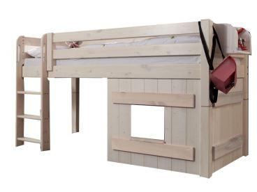 Etagenbett Holz Massiv : Kinderzimmer hochbett massiv mit stauraum frisch