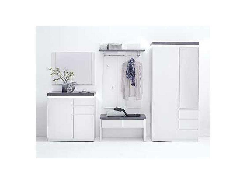 MCA furniture Atlanta moderne Gardaroben-Kombi weiß matt lackiert ...