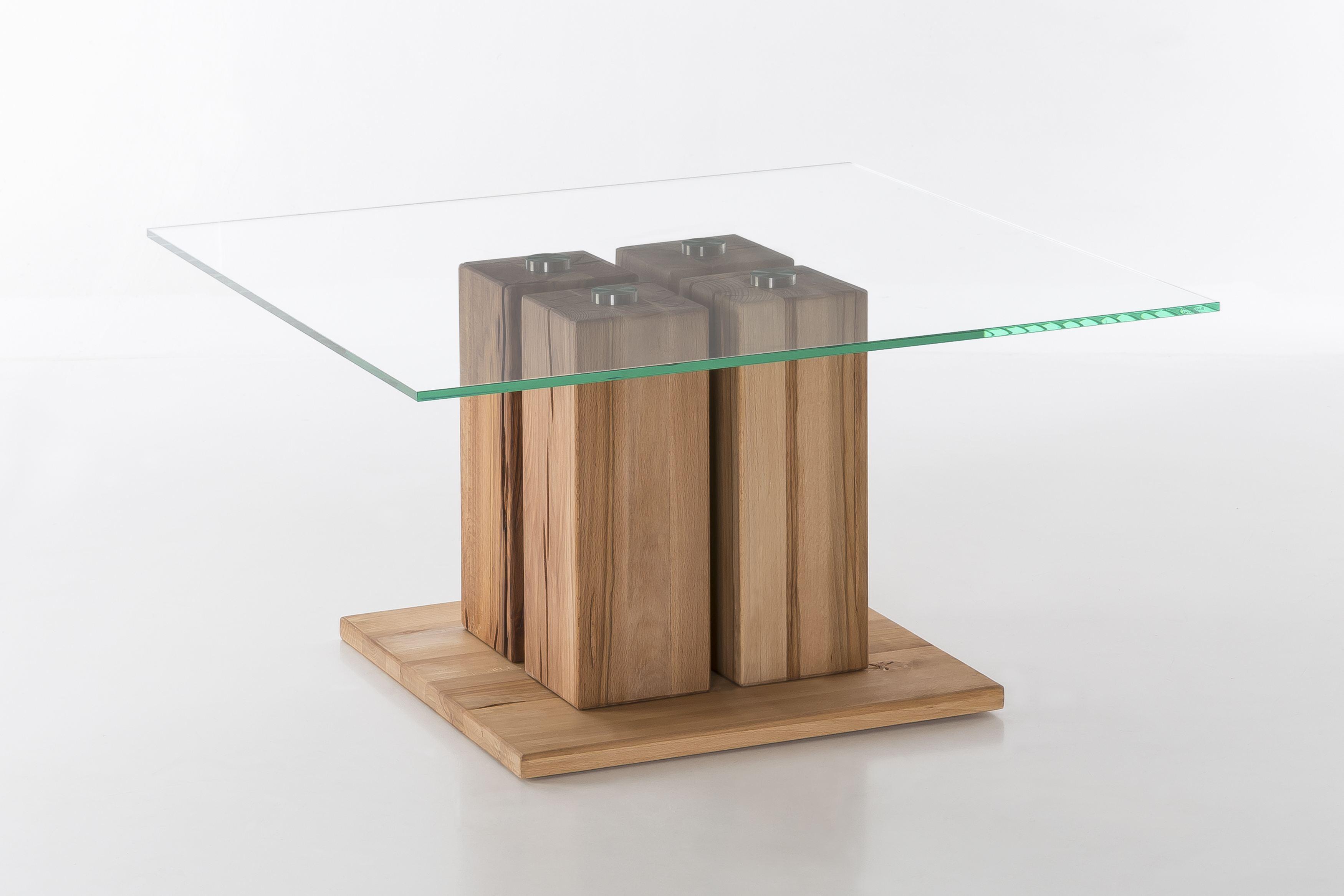 Woodlive Couchtisch Tavolino Kernbuche Geölt