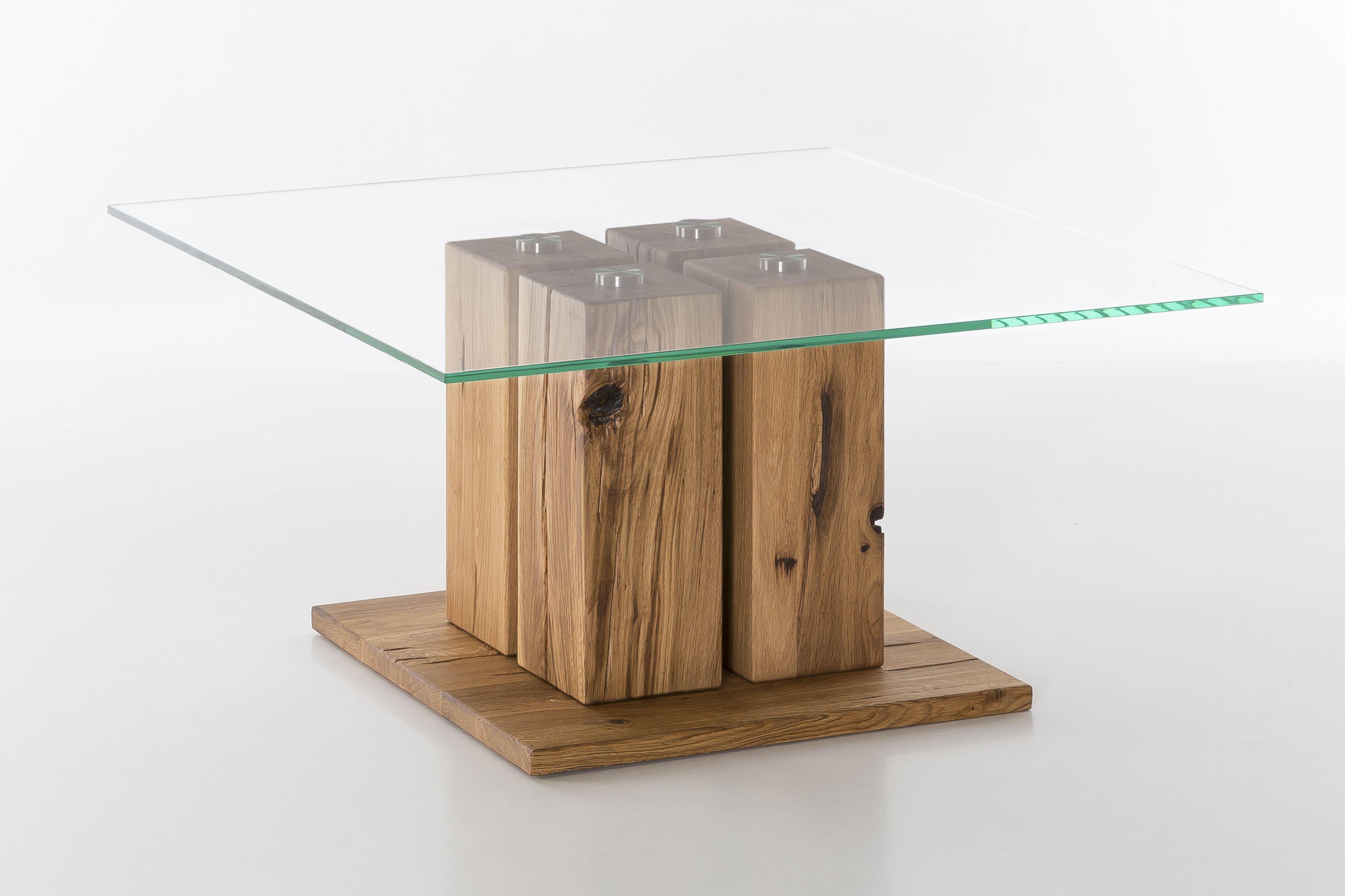 Woodlive Couchtisch Tavolino Wildeiche Geölt