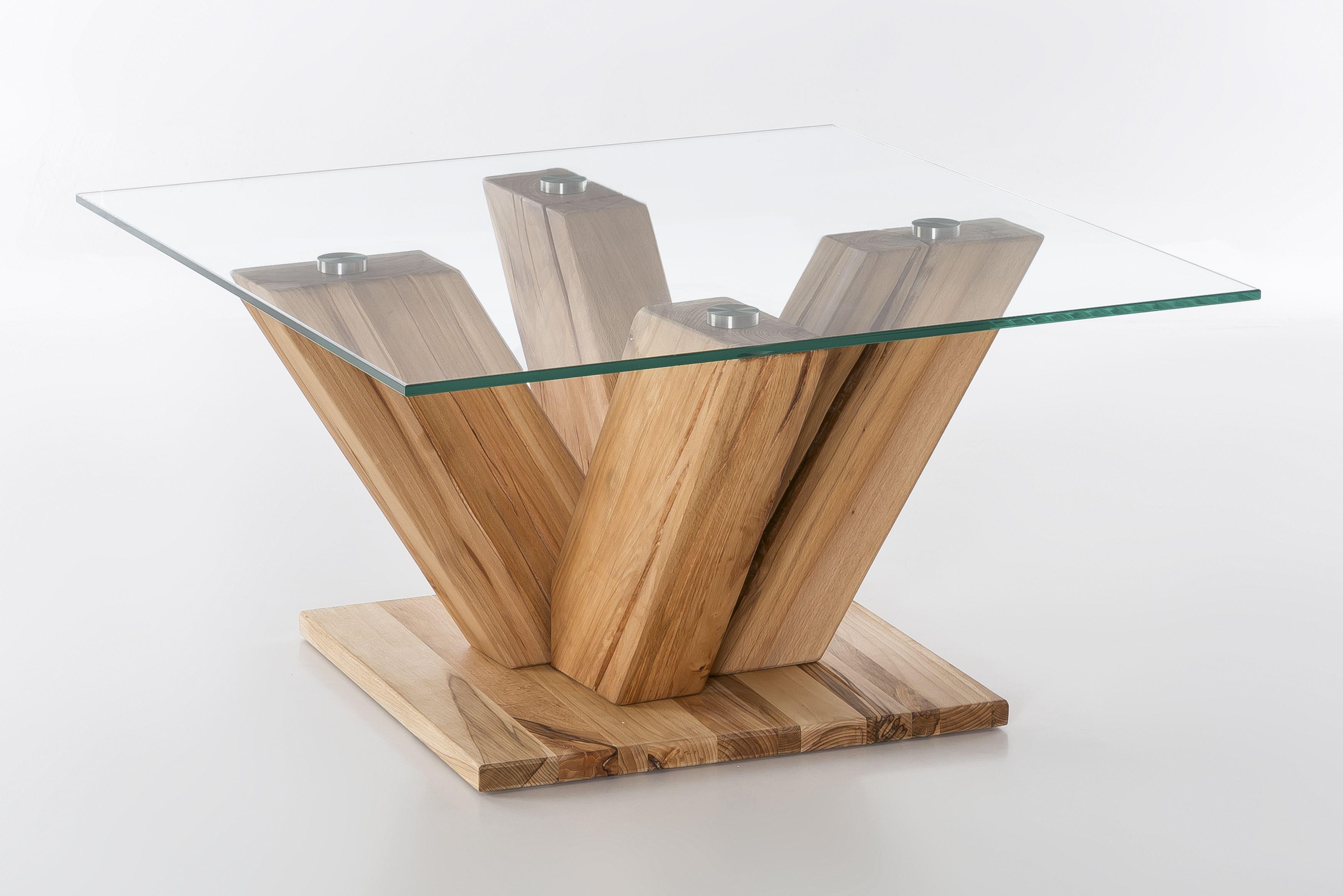 Woodlive Couchtisch Tavolino Kernbuche Geolt