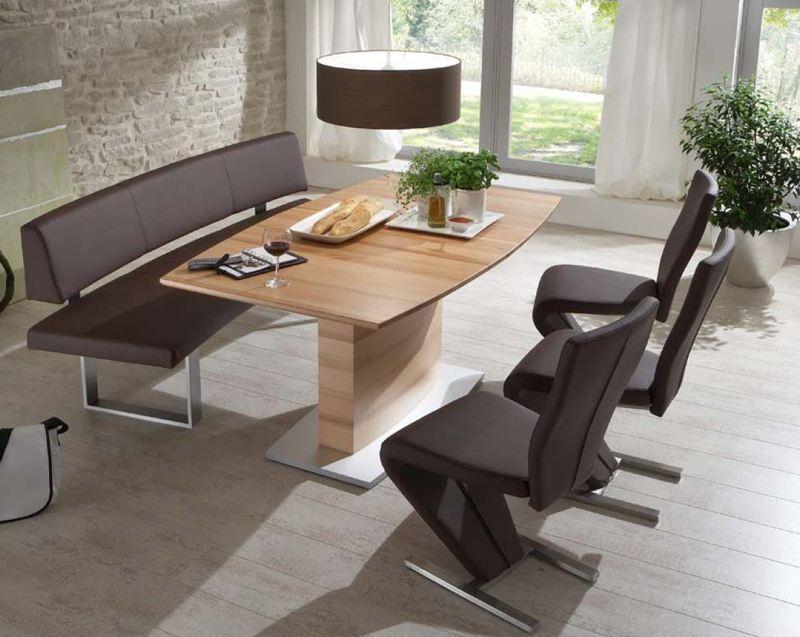 Niehoff Lara Essgruppe Für Esszimmer Speisezimmer Mit Segmentbank, Tisch Und  3x Stuhl