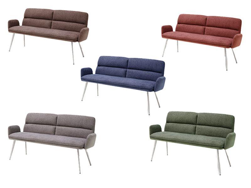mca furniture polsterbank fida rundrohr edelstahl f r k che oder esszimmer. Black Bedroom Furniture Sets. Home Design Ideas