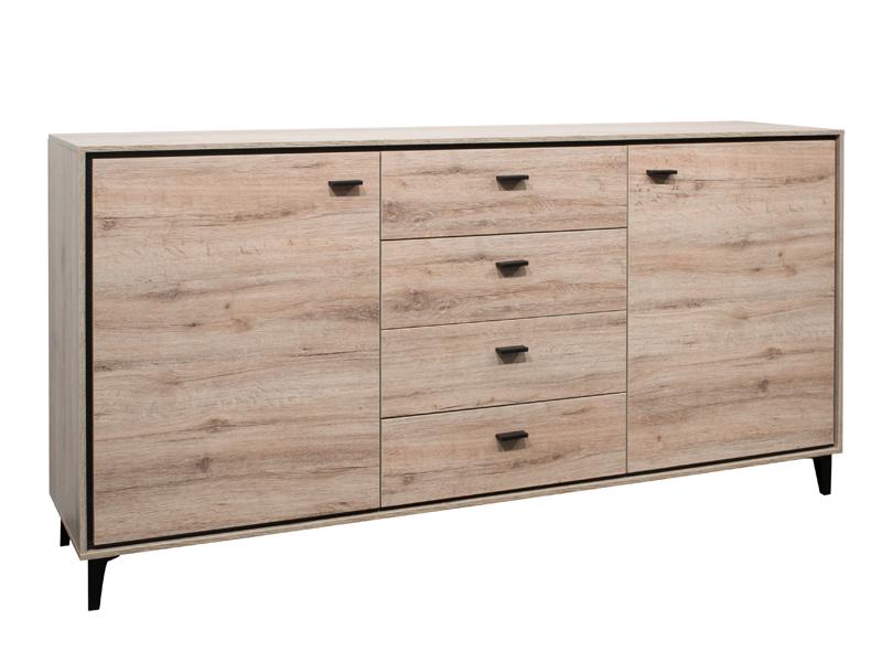 m usbacher sideboard mit t ren und sch ben dekor sanremo. Black Bedroom Furniture Sets. Home Design Ideas