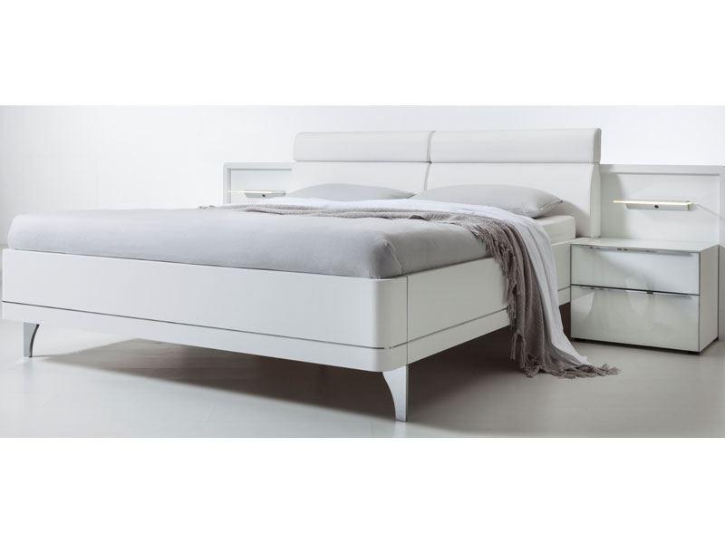 Nolte-Möbel Bahia Doppelbett 2 mit Füßen in chrom