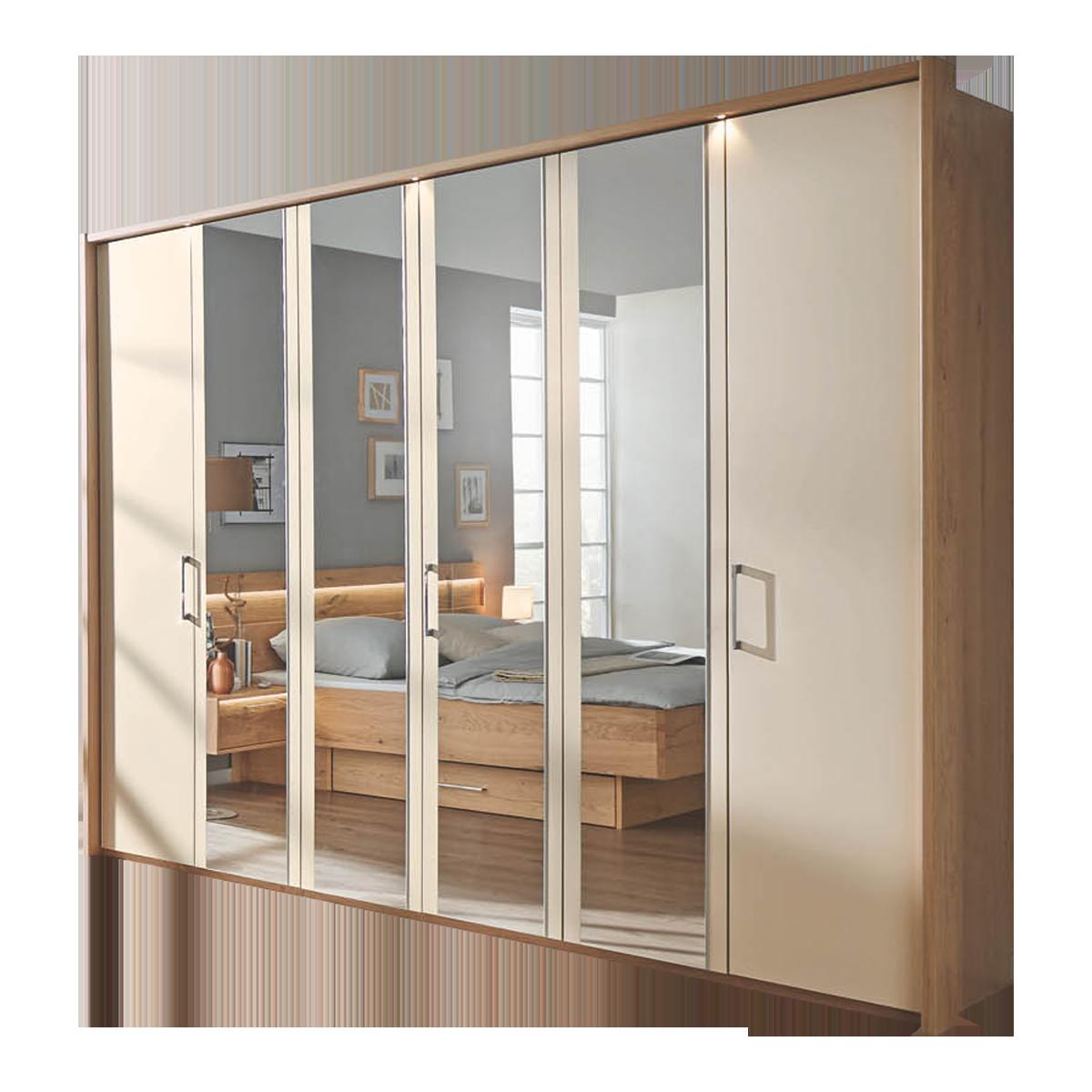 Disselkamp Cadiz Schlafzimmer Drehtürenkleiderschrank mit Spiegeltüen