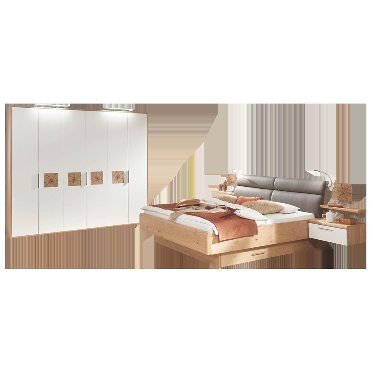 Disselkamp Cena Schlafzimmer Doppelbett Drehtürenschrank Nachtkonsolen