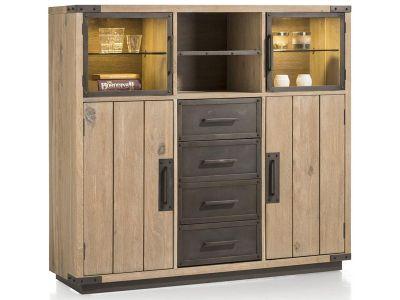 w stmann casarano highboard in europ ischer wildeiche beleuchtung w hlbar. Black Bedroom Furniture Sets. Home Design Ideas