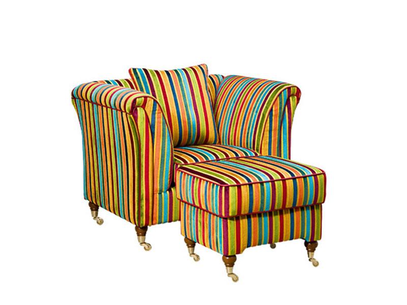 Der Schröno Luxus Sessel VINTAGE Mit Dazugehörigen Hocker Ist Ein  Eyecatcher Auf Den Man Nicht Zu Lange Starren Sollte, Sonst Sieht Man Mehr  Farben, ...